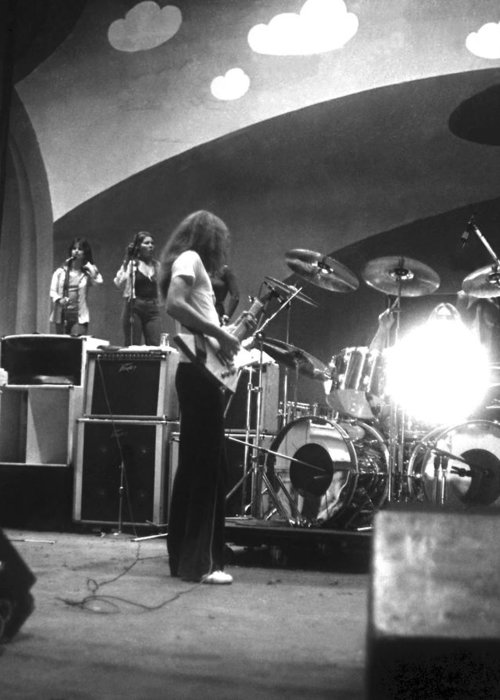Lynyrd Skynyrd Greeting Card featuring the photograph Soundcheck #8 by Ben Upham
