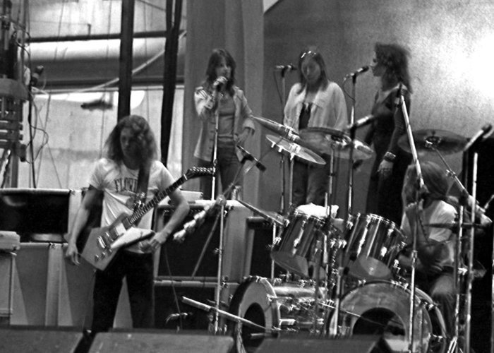 Lynyrd Skynyrd Greeting Card featuring the photograph Soundcheck #9 Crop 2 by Ben Upham