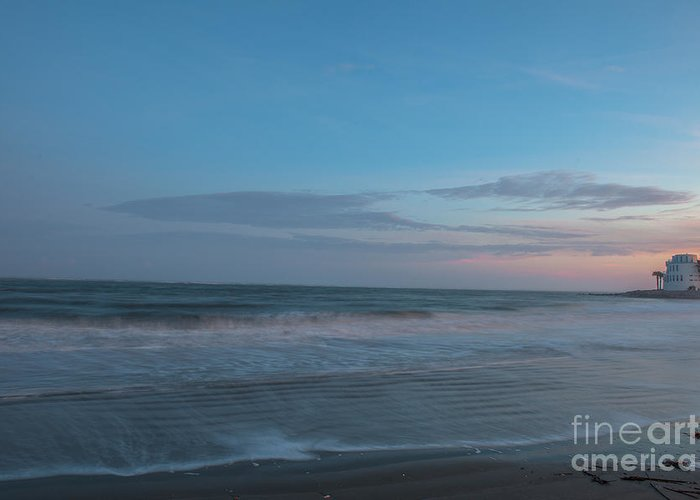 Sunset Greeting Card featuring the photograph Sounds Of The Sea by Dale Powell