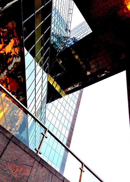 South Greeting Card featuring the photograph South Bank City Reflections No.4 by Gordon James