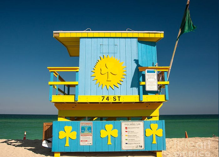 Miami Greeting Card featuring the photograph South Beach Miami by Chuck Spang