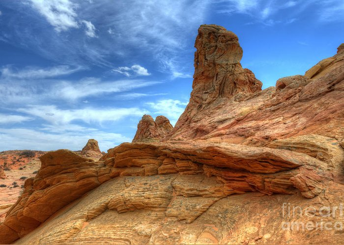 Rock Greeting Card featuring the photograph South Coyotte Buttes 8 by Bob Christopher