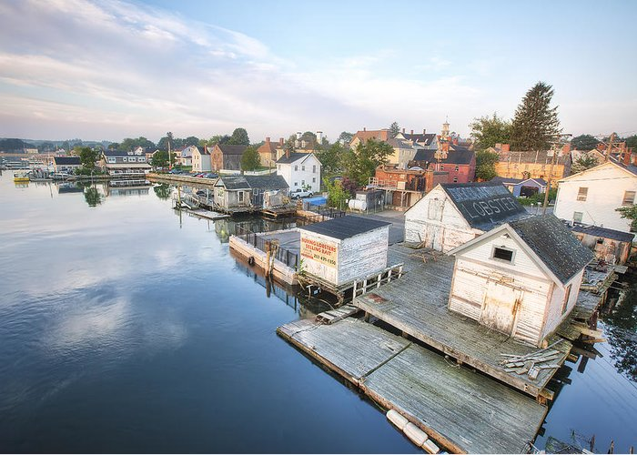 South End Docks Greeting Card featuring the photograph South End Docks by Eric Gendron