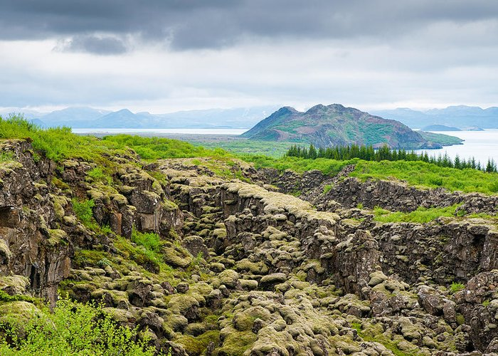 Iceland Greeting Card featuring the photograph South Iceland Landscape Pingvellir by Matthias Hauser
