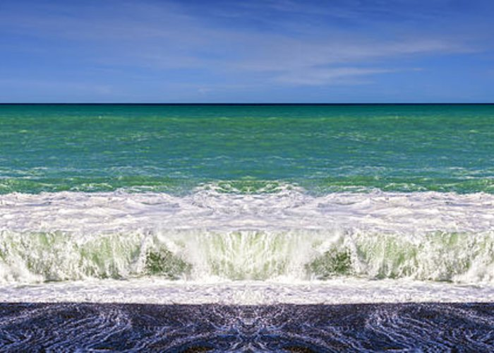 Seascape Greeting Card featuring the photograph South Pacific 3 by Colin and Linda McKie