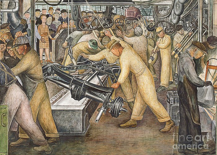 Factory Workers Greeting Cards