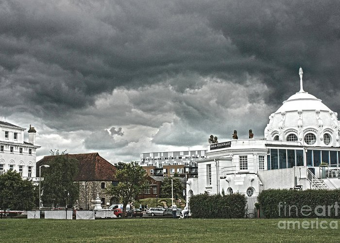 Southampton Greeting Card featuring the photograph Southampton Royal Pier Hampshire by Terri Waters