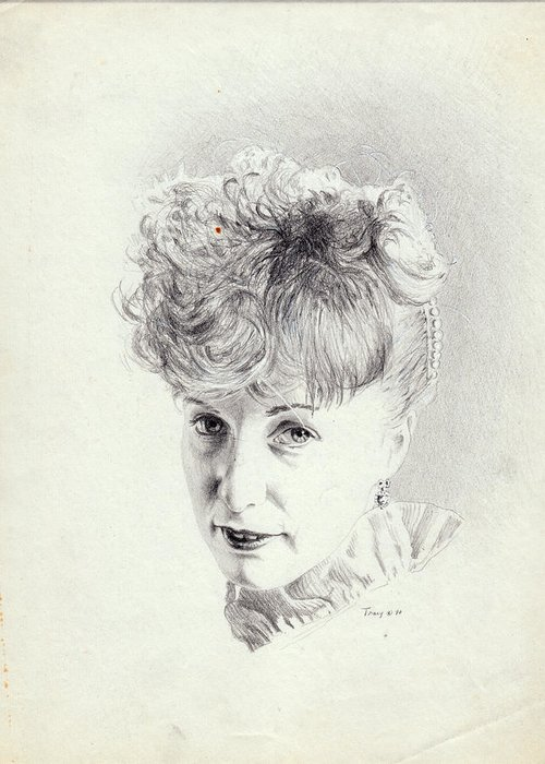 Girl Greeting Card featuring the drawing Southern Belle by Robert Tracy
