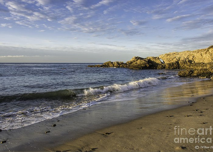 Seascapes Greeting Card featuring the photograph Southern California by Bill Baer