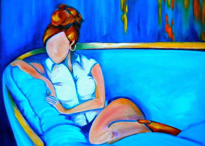 Southern Greeting Card featuring the painting Southern Comfort by Debi Starr