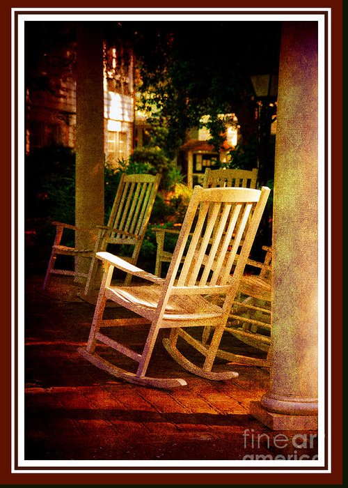 Southern Sunday Afternoon Greeting Card featuring the photograph Southern Sunday Afternoon by Susanne Van Hulst