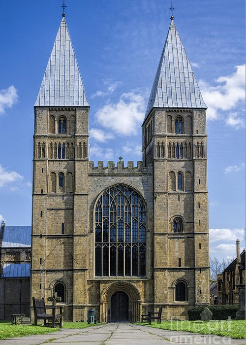 Southwell Minster Greeting Card featuring the photograph Southwell Minster by Steev Stamford