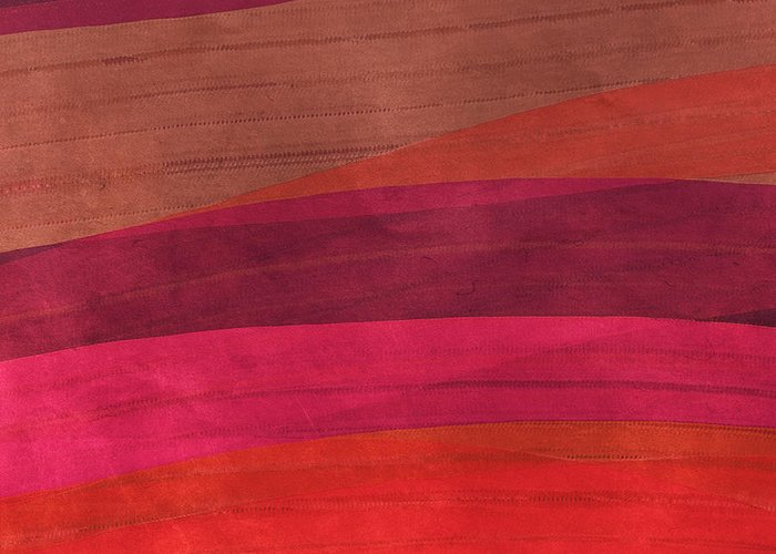 Warm Colors Abstract Greeting Cards