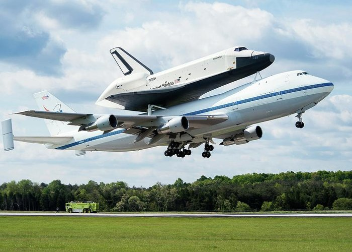Space Shuttle Enterprise Greeting Cards