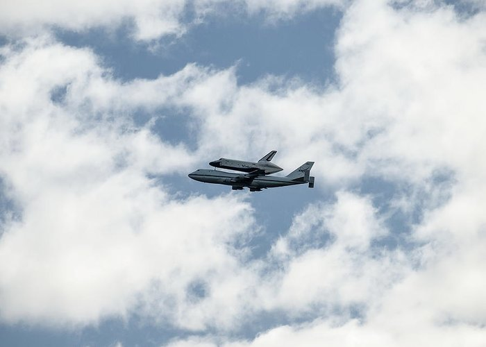 Space Greeting Card featuring the photograph Space Shuttle Enterprise by Wayne Gill