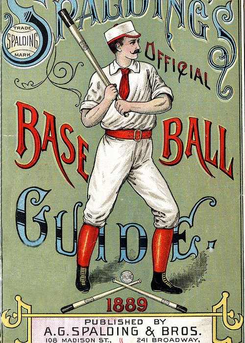 Spalding Baseball Ad Greeting Card featuring the digital art Spalding Baseball Ad 1189 by Unknown