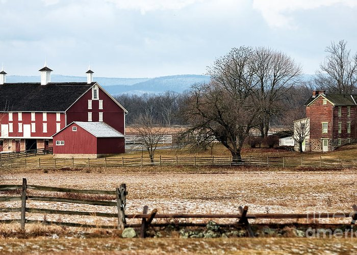 Spangler's Farm Greeting Card featuring the photograph Spangler's Farm by John Rizzuto