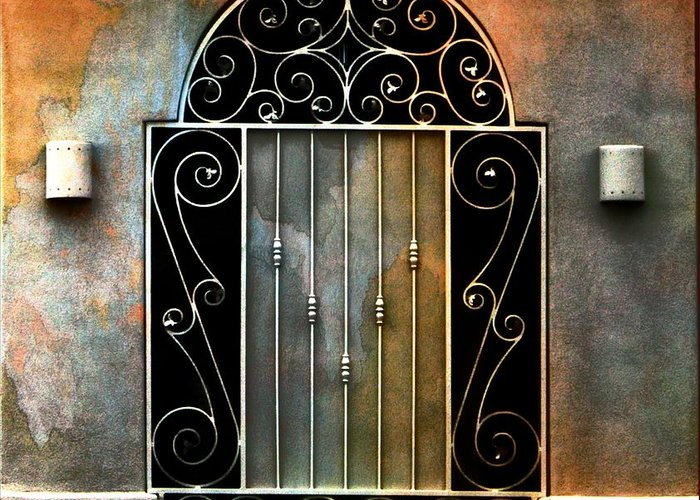 Gate Prints Greeting Card featuring the photograph Spanish Influence by Barbara Chichester