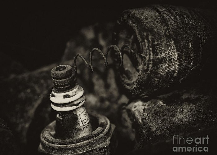 Cyclemos Greeting Card featuring the photograph Spark Plug by Wilma Birdwell
