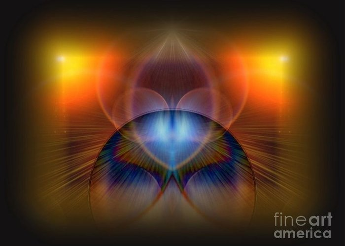 Digital Art Graphics All Prints Greeting Card featuring the digital art Spellbound by Gayle Price Thomas