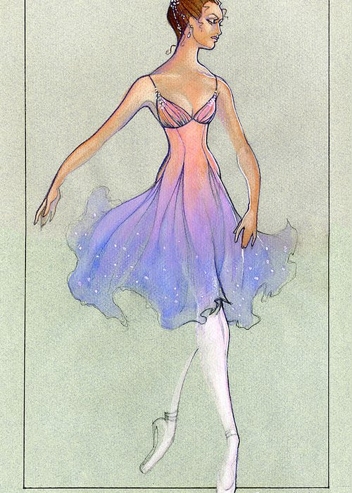 Costume Greeting Card featuring the mixed media Spellbound Girl by Steven Stines