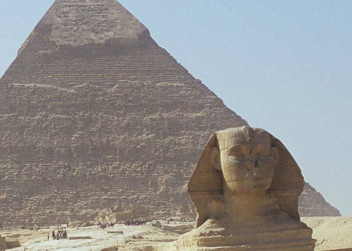 Sphinz Greeting Card featuring the photograph Sphinx Guard by William Armstrong