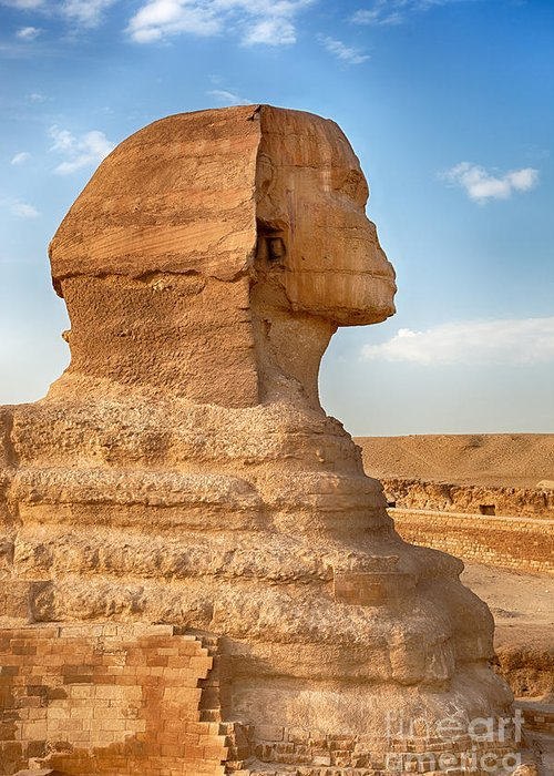 Africa Greeting Card featuring the photograph Sphinx Profile by Jane Rix