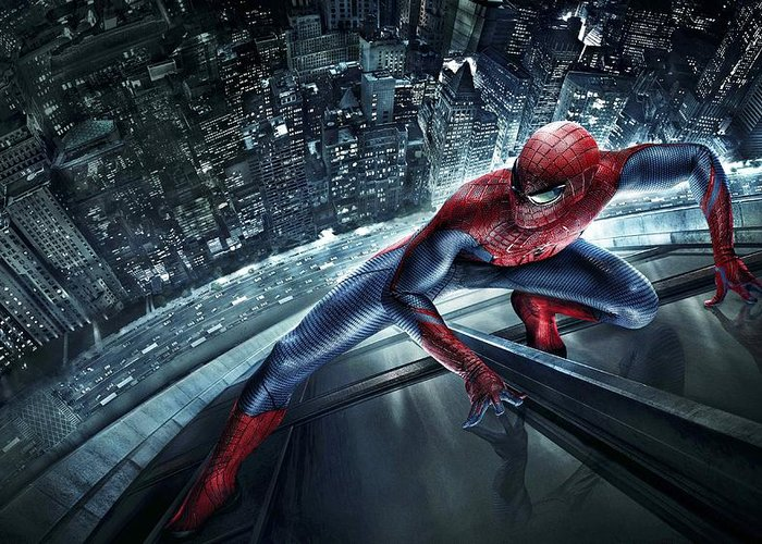 Spider-man Greeting Card featuring the digital art Spider Man 210 by Movie Poster Prints