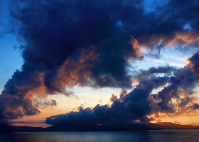 Ireland Greeting Card featuring the photograph Spiral Clouds by Aidan Moran