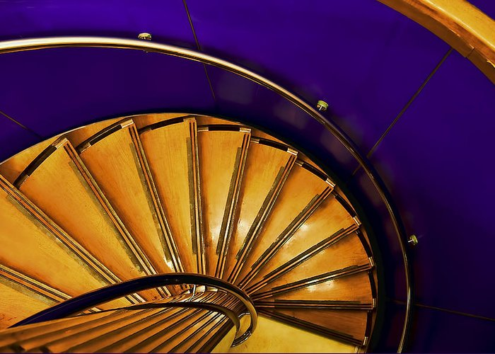 Architecture Greeting Card featuring the photograph Spiral Staircase by Maria Coulson
