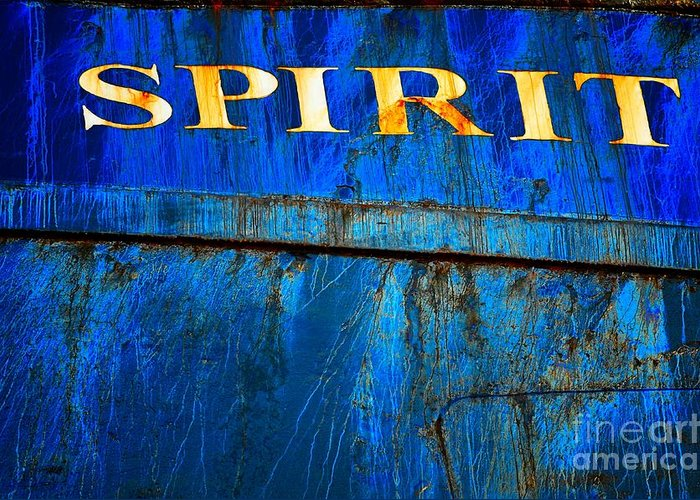 Abstract Greeting Card featuring the photograph Spirit by Lauren Leigh Hunter Fine Art Photography