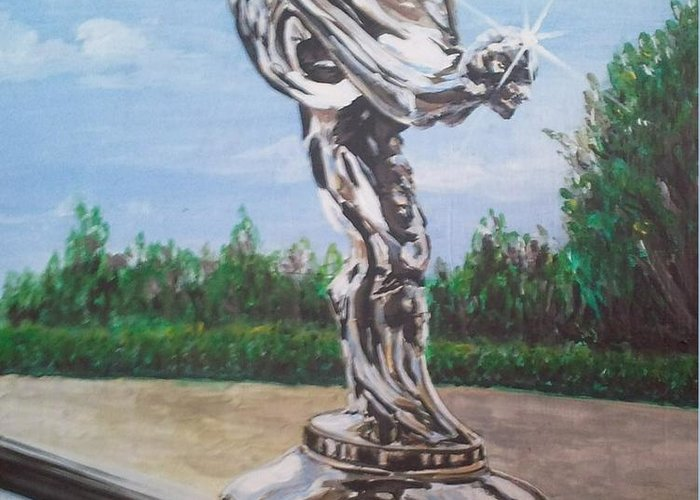 Spirit Of Ecstasy Greeting Card featuring the painting Spirit Of Ecstasy by Richard John Holden RA