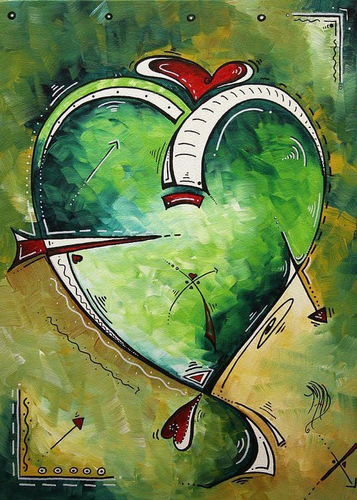 Art Greeting Card featuring the painting Spirit Of The Heart By Madart by Megan Duncanson