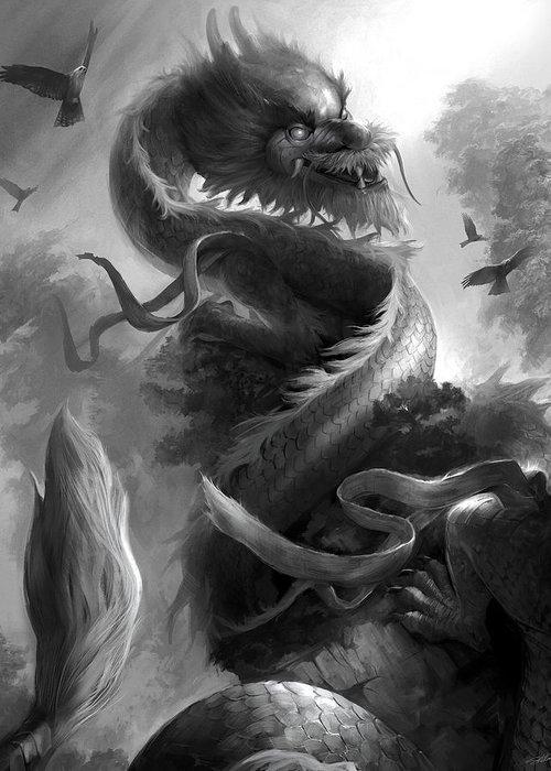 Dragon Greeting Card featuring the digital art Spirit Of Vietnam by Steve Goad