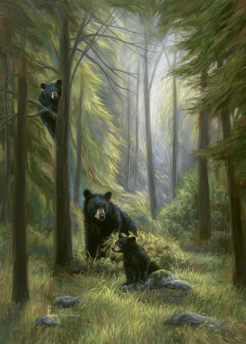 Black Bear Cubs Greeting Cards