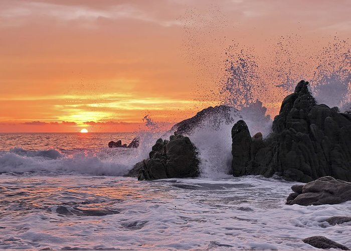 Landscape Greeting Card featuring the photograph Splash by Marcia Colelli