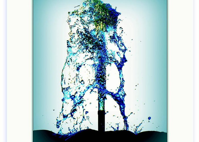Artiste Danielle Parent Greeting Card featuring the photograph Splashing Fountain by Danielle Parent