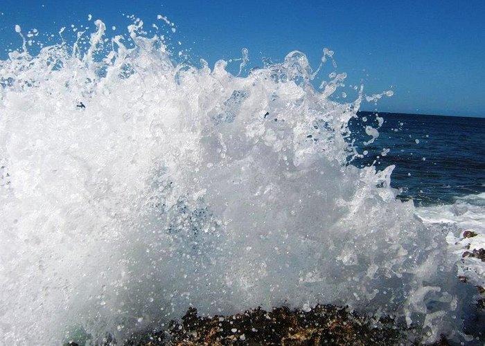 Splashy Island Greeting Card featuring the photograph Splashy Island by Imelda Sausal-Villarmino