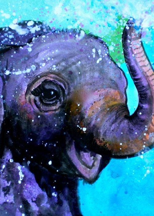 Splish Splash Greeting Card featuring the painting Splish Splash by Debi Starr