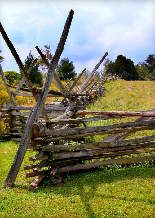 Split Rail Fence Greeting Card featuring the photograph Split Rail by Karen Wiles