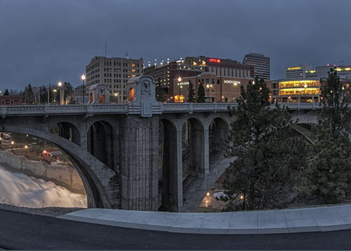 Spokane Greeting Card featuring the photograph Spokane Cityscape by Michael Gass