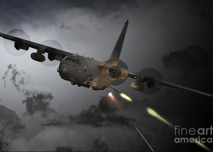 Ac-130 Greeting Cards