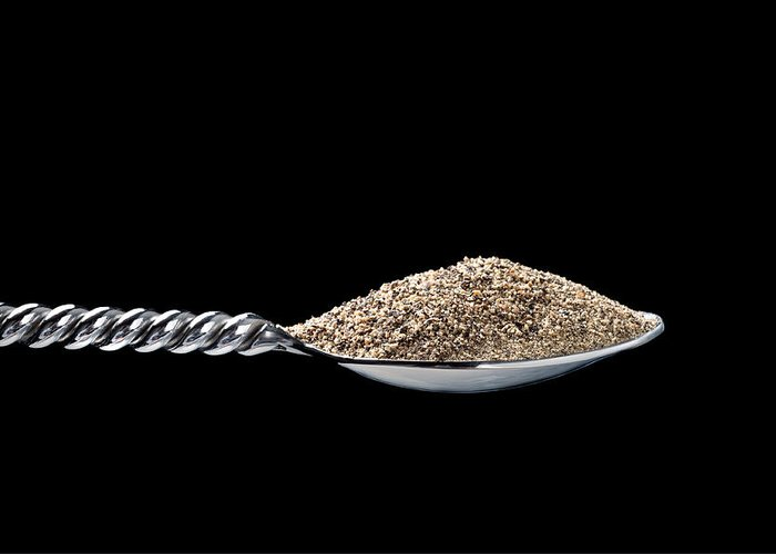 Spoon Greeting Card featuring the photograph Spoon Full Of Pepper by Joe Belanger