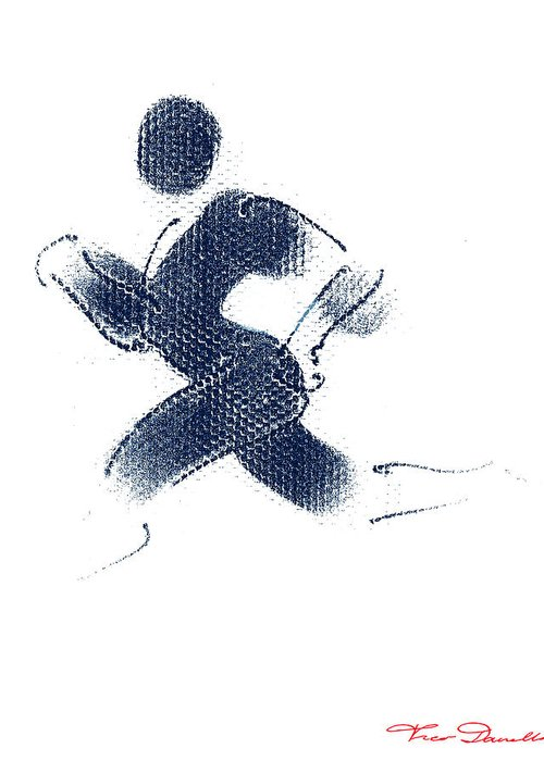 Theo Danella Greeting Card featuring the drawing Sport A 1 by Theo Danella