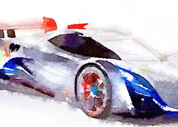 Car Greeting Card featuring the digital art Sport Car 3 by Yury Malkov