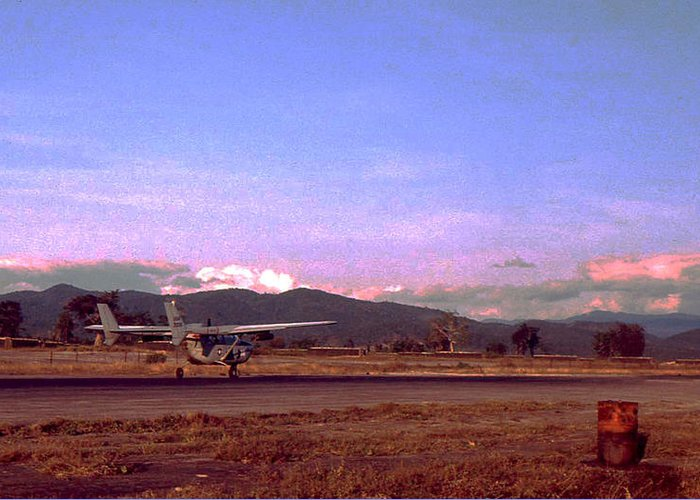 Vietnam Greeting Card featuring the photograph Spotter Plane by Norman Johnson