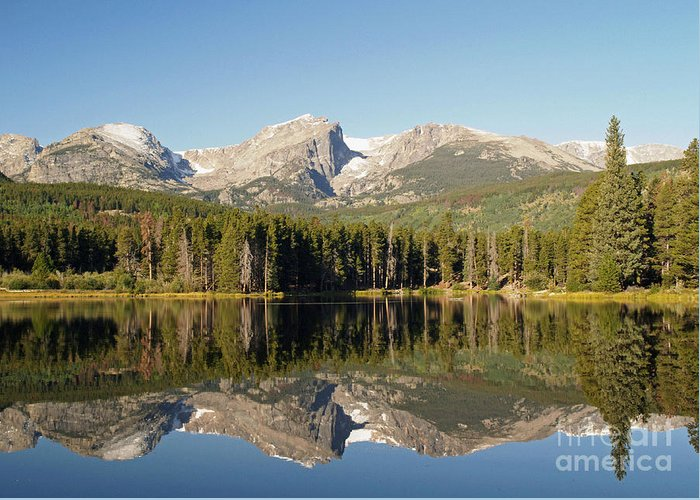 Landscape Greeting Card featuring the photograph Sprague Lake In Rocky Mountain National Park by Alex Cassels