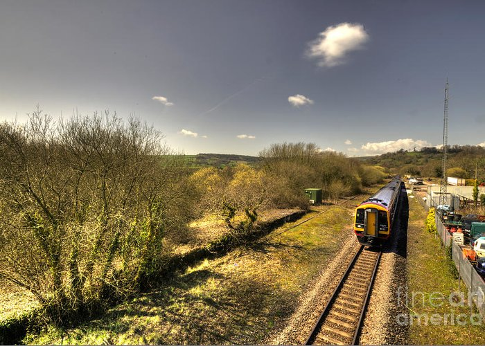 Seaton Greeting Card featuring the photograph Spring At Seaton Junction by Rob Hawkins