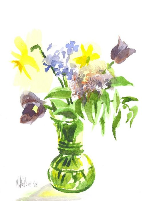 Spring Bouquet Iii Greeting Card featuring the painting Spring Bouquet IIi by Kip DeVore