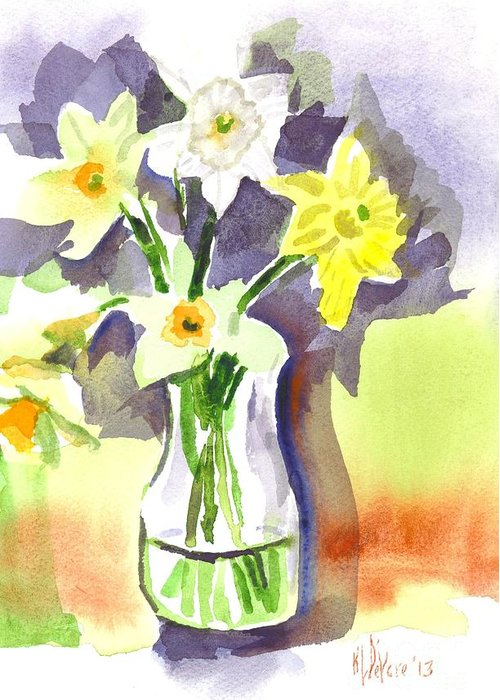 Spring Bouquet Greeting Card featuring the painting Spring Bouquet by Kip DeVore